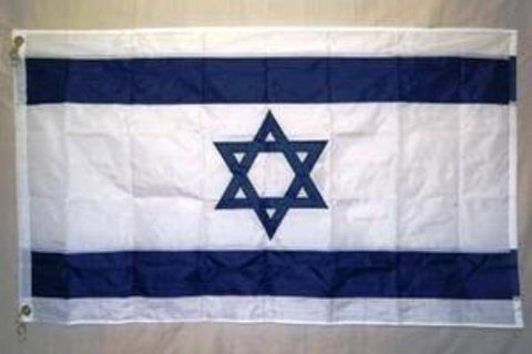 vendor-unknown Country & National Flags Israel Flag Nylon Embroidered 3 x 5 ft.