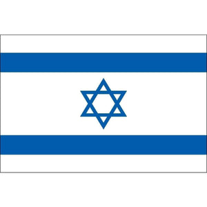 vendor-unknown Country & National Flags Israel Nylon Dyed Flag 2' x 3' (USA Made)