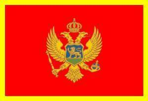 vendor-unknown Country & National Flags Montenegro Flag 3 X 5 ft. Standard