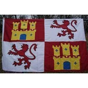 vendor-unknown Country & National Flags Spain Lion and Castle Double Nylon Embroidered Flag 3 x 5 ft.