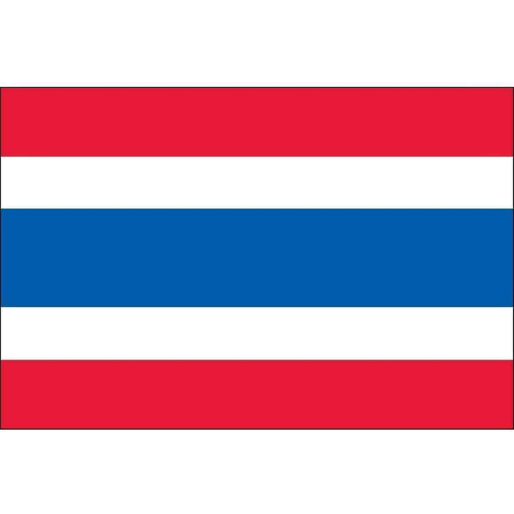 vendor-unknown Country & National Flags Thailand 3 ft x 5 ft Dyed Nylon (USA Made)