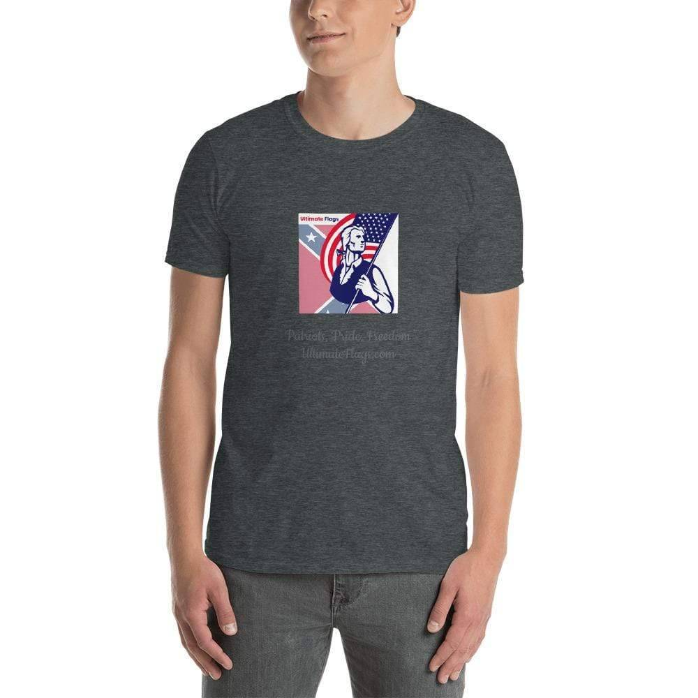 Ultimate Flags Dark Heather / S Ultimate Flags Logo Short-Sleeve Unisex T-Shirt Patriots, Pride, Freedom