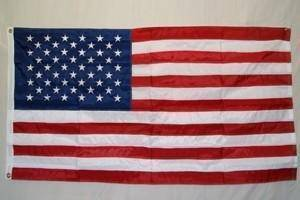 50 Star USA Nylon Embroidered Sewn Stripes Flag 3 x 5 ft. (Made in America)
