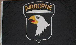 vendor-unknown Flag 101st Airborne (Black) Flag 3 X 5 ft. Standard