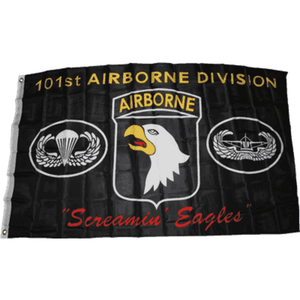 "vendor-unknown Flag 101st Airborne Division ""Screaming Eagles"" (Black) Flag 3 X 5 ft. Standard"