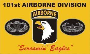 "vendor-unknown Flag 101st Airborne Division ""Screaming Eagles"" (Yellow) Flag 3 X 5 ft. Standard"