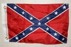 vendor-unknown Flag 12x18 inch / Double Sided Polyester Rebel Flag - Confederate Battle Flag - 12 x 18 inch - with grommets Flag - double sided