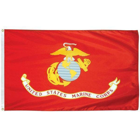Image of RU Flag 12x18 inch double sided USMC Marine Flag - Nylon Printed - EGA 12x18 inch,3x5,4x6 With Grommets