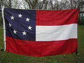 Image of RU Flag 1st National Confederate 7 Stars and Bars Nylon Embroidered Flag 3 x 5 ft.