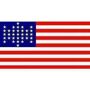 Eder Flag 33 Star US Flag - Union Civil War Flag - 3 x 5 - Nylon Dyed (USA Made)