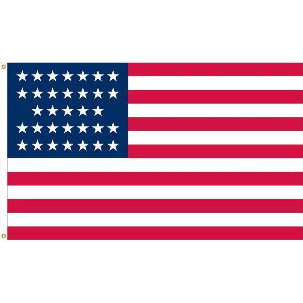 vendor-unknown Flag 33 Star USA Fully Sewn Nylon Flag 3 x 5 ft. (Made in America)