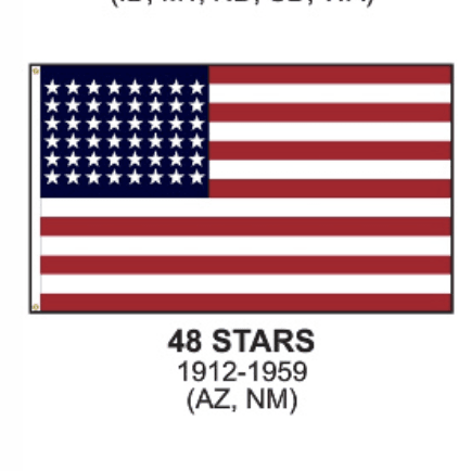 Eder Flag 3x5 48 Star US Flag - Nylon Sewn Applique Stars (USA Made)