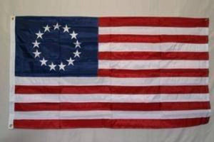 RU Flag 3x5 Betsy Ross Flag - Outdoor - 13 stars - Nylon Embroidered