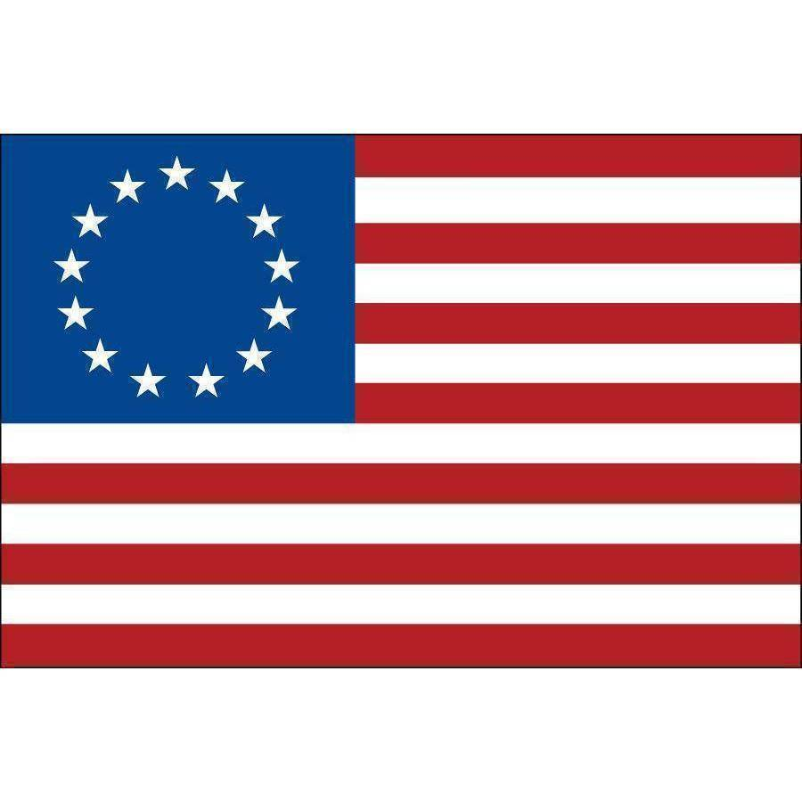 Collins/Eder Flag 3x5 Betsy Ross Flag - Outdoor - USA Made - Nylon Embroidered - Made in America