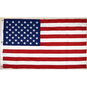 RU Flag 3x5 / Double Nylon Embroidered 600D 2Ply USA Flag - bonus Lapel Pin - 50 Star Nylon Embroidered 3x5 foot