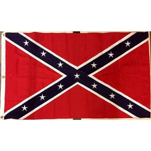 vendor-unknown Flag 3x5 / Double Nylon Embroidered Stars Rebel Flag - Confederate Battle Flag - 3 x 5 ft - 600D Double Nylon - Embroidered or Appliqued Stars