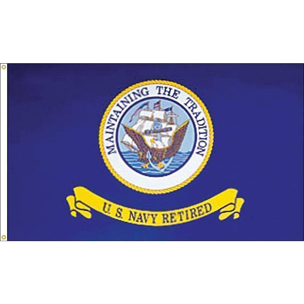 Eder Flag 3x5 / E-Poly US Navy Retired 3 x 5 E-Poly Flag With Grommets