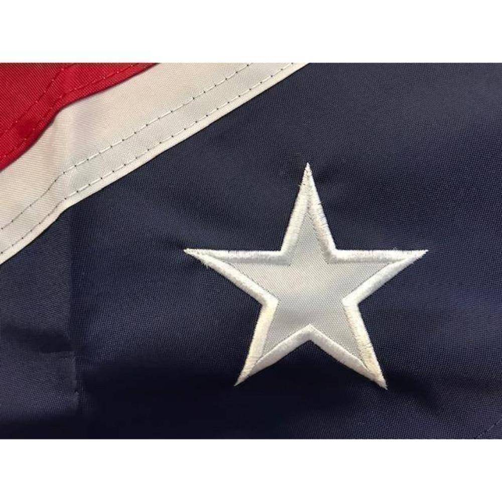 RU Flag 3x5 / Nylon Applique Stars Rebel Flag - Confederate Flag - Confederate Battle Flag - 3 x 5 ft - 300D Nylon - Embroidered or Applique Stars