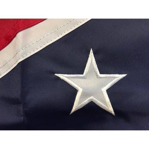 Image of RU Flag 3x5 / Nylon Applique Stars Rebel Flag - Confederate Flag - Confederate Battle Flag - 3 x 5 ft - 300D Nylon - Embroidered or Applique Stars