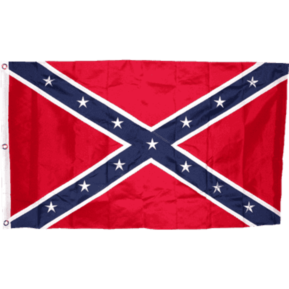 RU Flag 3x5 / Nylon Embroidered Rebel Flag - Confederate Flag - Confederate Battle Flag - 3 x 5 ft - 300D Nylon - Embroidered or Applique Stars