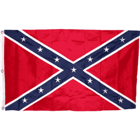 Image of RU Flag 3x5 / Nylon Embroidered Rebel Flag - Confederate Flag - Confederate Battle Flag - 3 x 5 ft - 300D Nylon - Embroidered or Applique Stars