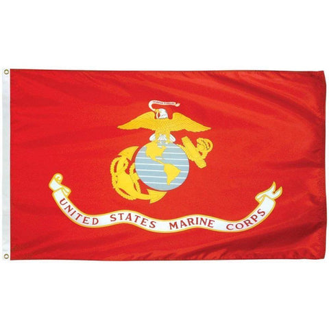 Collins/Eder Flag 3x5 / Nylon Printed US Marine Corps Flag - Outdoor - Commercial - Nylon Printed (Made in America)