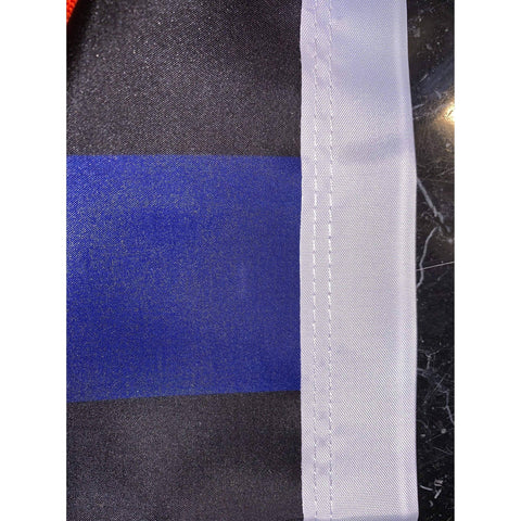 Image of RU Flag 3x5 Police Thin Blue Line USA Flag 3 X 5 ft. Rough Tex