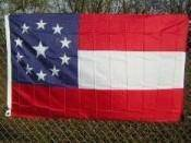 vendor-unknown Flag 3x5 / Polyester First Confederate Flag - 11 Stars 1 in the middle - Stars & Bars Flag - 3 X 5 ft. Standard
