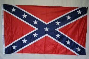 Image of vendor-unknown Flag 3x5 Rebel Flag, Confederate Battle Flag Knitted Nylon 3 ft. x 5 ft. Flag