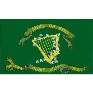 Image of RU Flag 3x5 Sons of Erin CSA Irish Flag, Irish Confederate Flag -2x3,3x5 ft. Standard