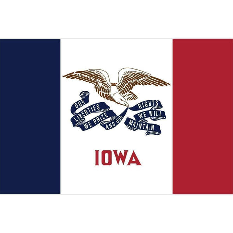 Collins/Eder Flag 3x5 State of Iowa Flag - Nylon Dyed 2x3,3x5,4x6  (USA Made)
