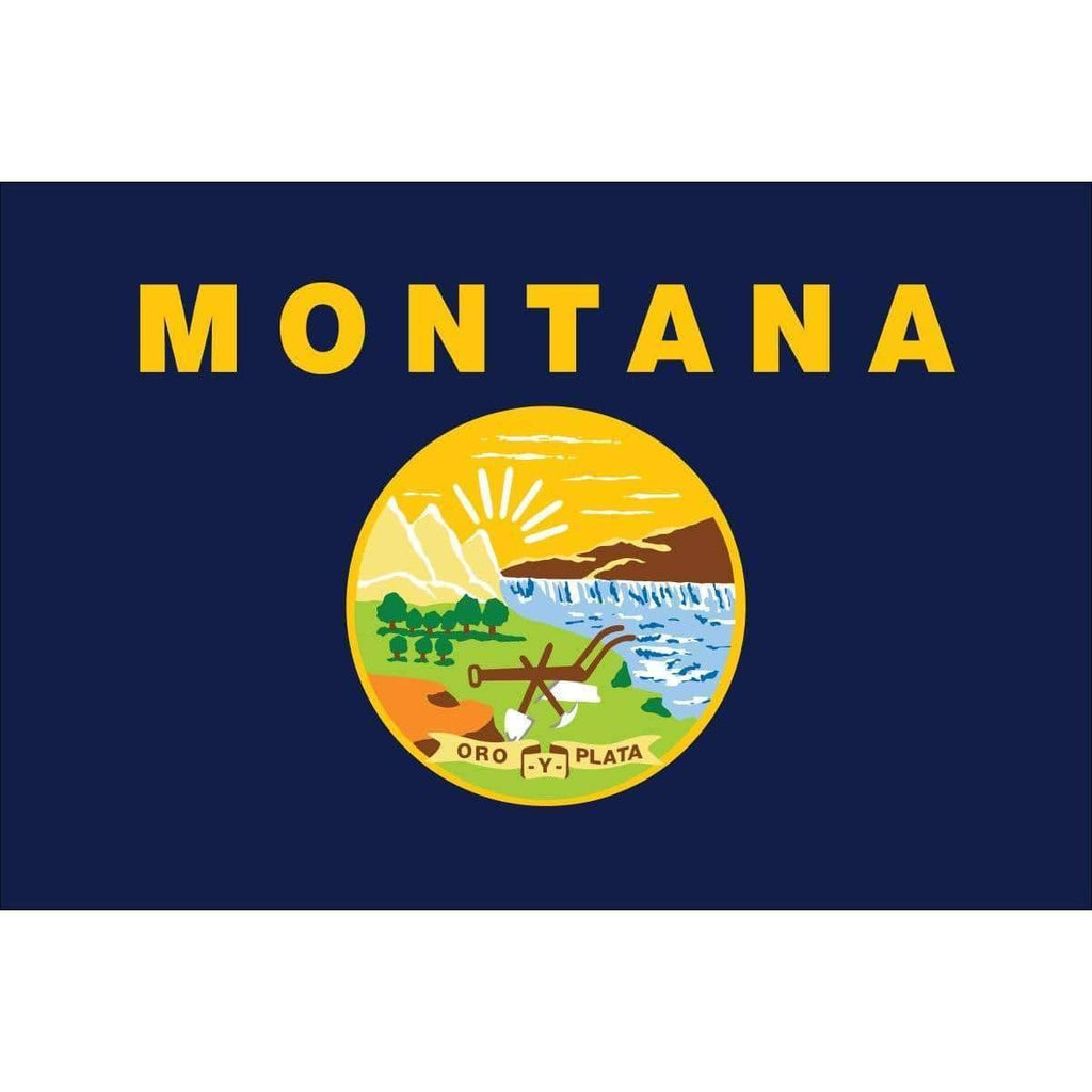 Collins/Eder Flag 3x5 State of Montana Flag - Nylon Dyed - Outdoor - Made in America