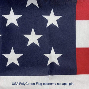 US Flag Polycotton - 50 star - Grommets - 3 x 5 Made in America
