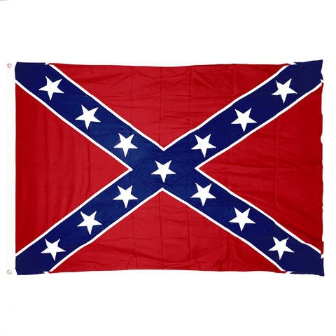 Image of RU Flag 4x6 / Cotton Rebel Flag - Confederate Battle Flag -  Cotton - 4 x 6 ft. Antiqued