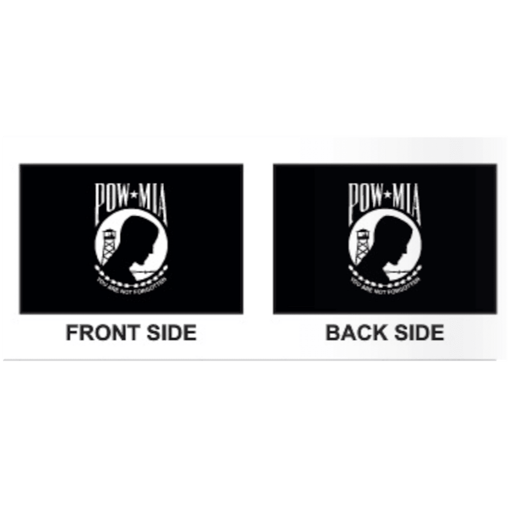 Collins/Eder Flag 4x6 / Double Sided POW MIA Flag - Poly-Max Outdoor Commercial (Made in America)