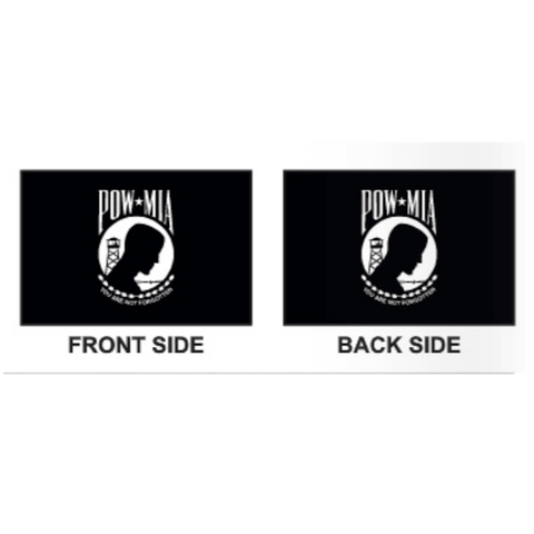 Image of Collins/Eder Flag 4x6 / Double Sided POW MIA Flag - Poly-Max Outdoor Commercial (Made in America)