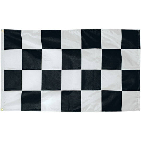 Eder Flag 4x6 ft Checkered Flag - Nylon Dyed - Black & White - (USA Made)