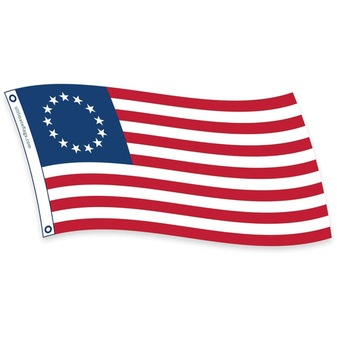 Collins/Eder Flag 4x6 / Nylon Embroidered Betsy Ross Flag - USA Made - Outdoor  2x3,3x5,4x6,5x8 - Nylon Fully Sewn (USA Made)