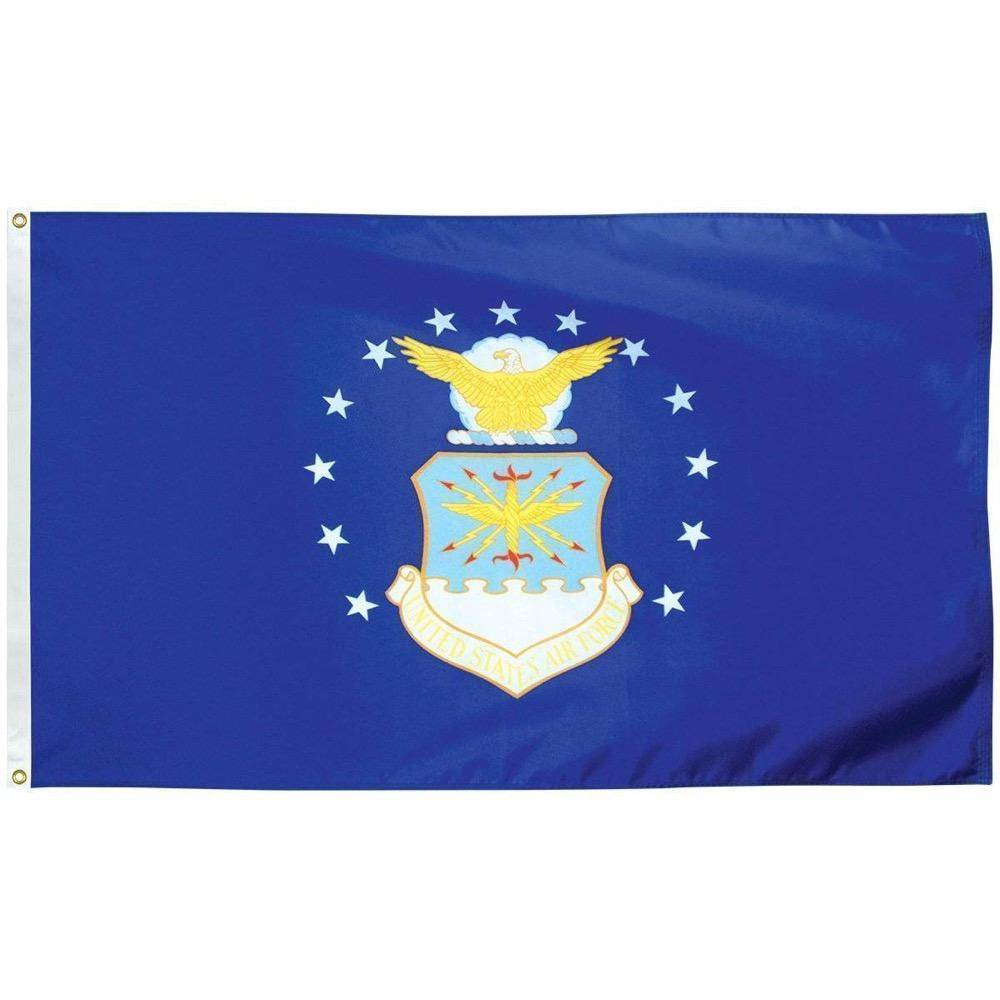 Collins/Eder Flag 4x6 / Nylon Printed Air Force Flag -Outdoor - Commercial - 2x3,3x5,4x6,5x8,6x10 -. Nylon Dyed (USA Made)