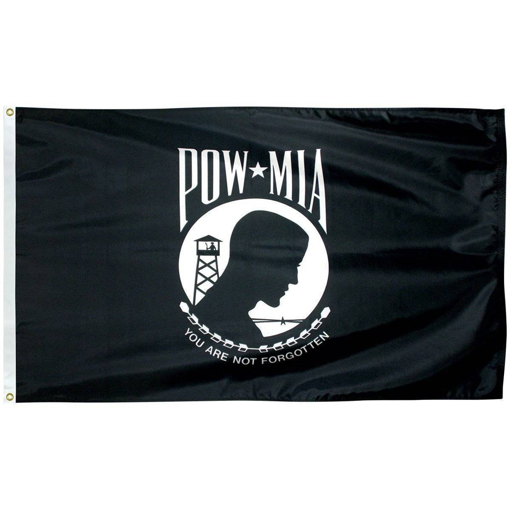 Collins/Eder Flag 4x6 / Single Sided POW MIA Flag - Poly-Max Outdoor Commercial (Made in America)