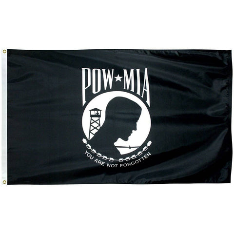 Image of Collins/Eder Flag 4x6 / Single Sided POW MIA Flag - Poly-Max Outdoor Commercial (Made in America)