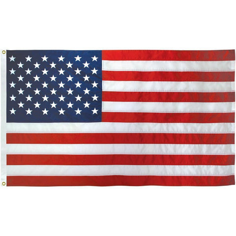 Collins/Eder Flag 50 Star USA Nylon Embroidered Flag 4 X 6 ft. (Made in USA)