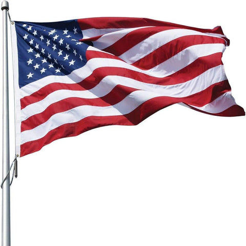 Image of Collins/Eder Flag 5x8 / Poly-Max USA Flag-Commercial-Poly-Max Embroidered -3x5,4x6,5x8,6x10,50x80 ft (Made in America)