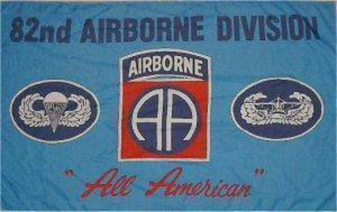 "vendor-unknown Flag 82nd Airborne (Blue) ""All American"" Flag 3 X 5 ft. Standard"