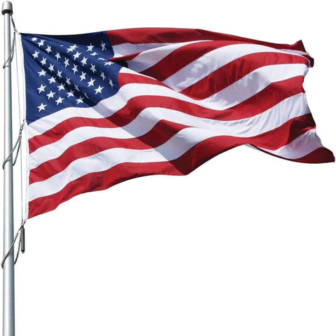 Image of Collins/Eder Flag 8x12 / Poly-Max USA Flag-Commercial-Poly-Max Embroidered -3x5,4x6,5x8,6x10,50x80 ft (Made in America)