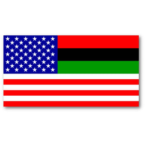 Afro American USA Flag 3x5 Economical