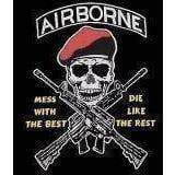 "vendor-unknown Flag Airborne Flag, ""Mess with the Best, Die Like the Rest"" Flag 3 X 5 ft. Standard"