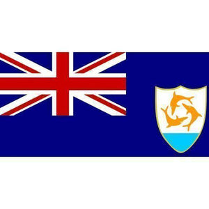 RU Flag Anguilla Flag 4 x 6 inch on a stick