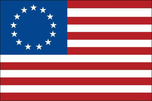 Betsy Ross Flag 3x5 ft Made in USA  Pole Hem - Sleeve Hoist