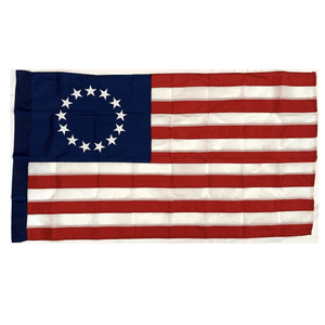 Eder Flag Betsy Ross Flag 3x5 ft Made in USA  Nylon Sewn - Pole Hem - Sleeve Hoist